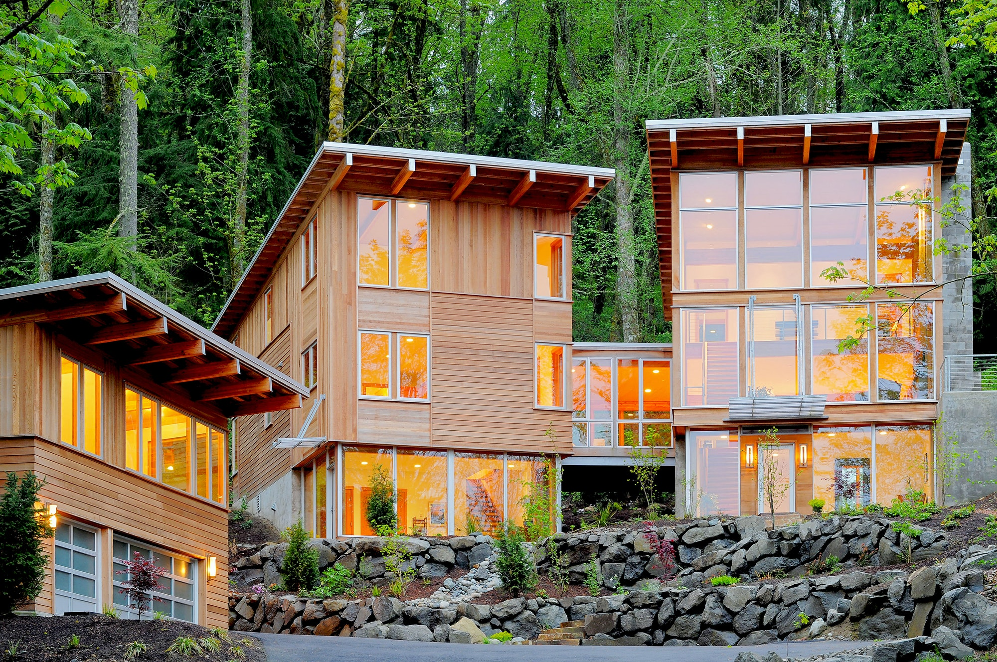 54224,Modern house in woods